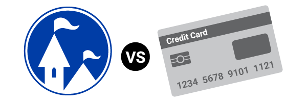 Castle Rental vs. Credit Card