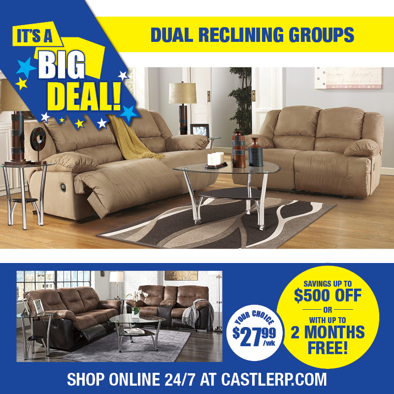 Deal Choice of Dual reclining sofa & loveseat groups